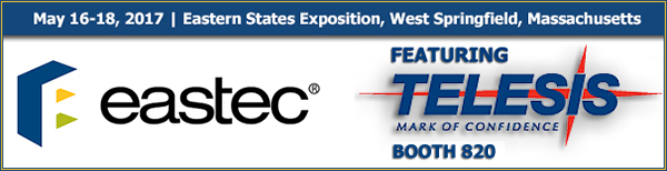 Eastec 2017 | Booth 2022 | May 16 - 19, 2017 | West Springfield, MA