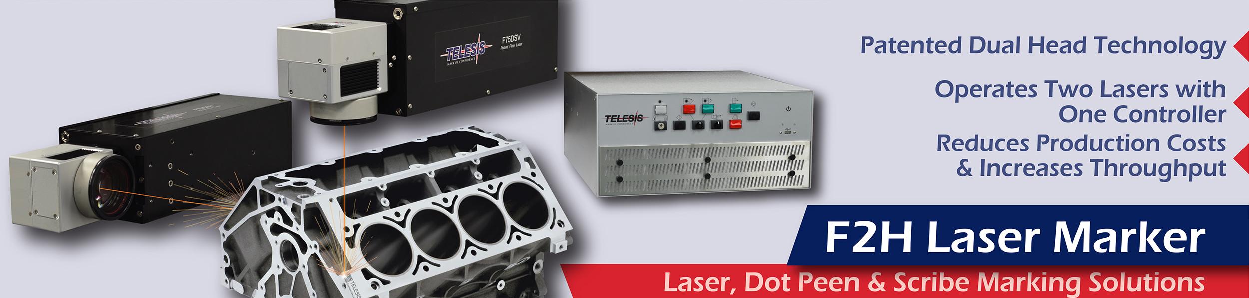 F2H Dual Head Pulsed Fiber Laser Marking System