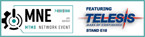 MNE - MTMS Network Event | February 07 - 08, 2018 | Booth E18 | Kortrijk Belgium