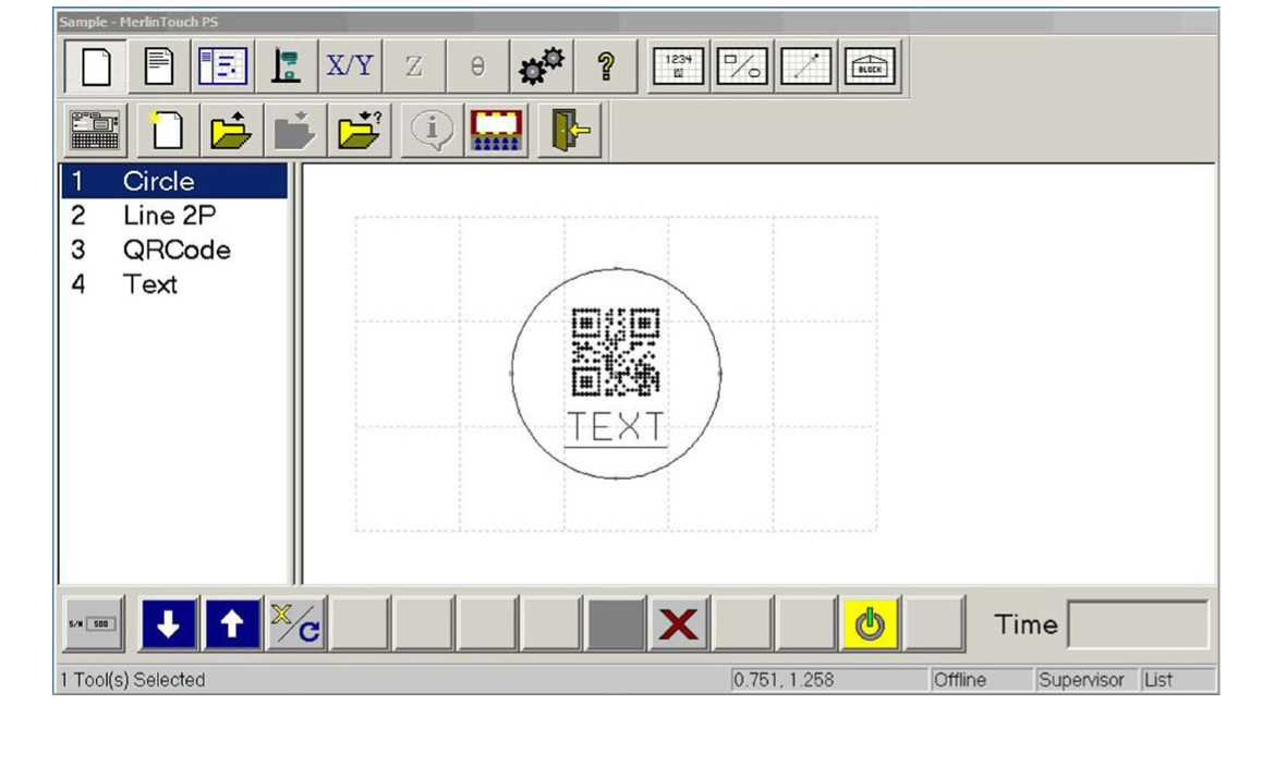Telesis Merlin® Touch PS software