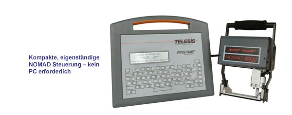 NOMAD 4000 handgeführtes, mobiles, batteriebetriebenes Nadelmarkiersystem
