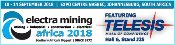 Electra Mining | Hall 6, Stand J25 | September 10 - 14, 2018 | Johannesburg, South Africa