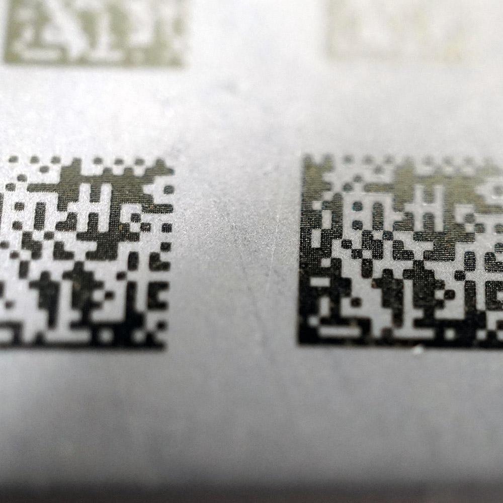 2D Matrix Code Metal