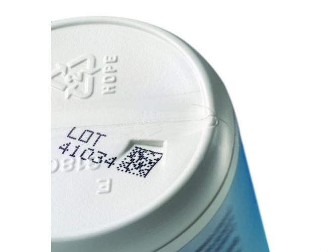 CIJ 2D code on HDPE bottle-2